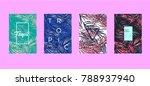 tropic set of 4 templates....   Shutterstock .eps vector #788937940