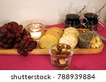 Cheese Plate Served With Grape...