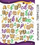 sweet alphabet. carnival colors ... | Shutterstock .eps vector #788941138