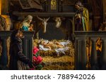 christmas nativity scene with...   Shutterstock . vector #788942026