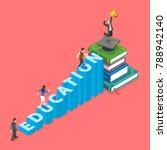 education flat isometric vector ...   Shutterstock .eps vector #788942140