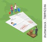 visa application flat isometric ... | Shutterstock .eps vector #788942146