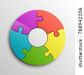 puzzle five piece business...   Shutterstock .eps vector #788942206