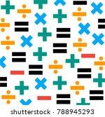 math symbol pattern.... | Shutterstock .eps vector #788945293