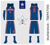 basketball uniform template... | Shutterstock .eps vector #788947543