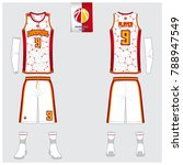 basketball uniform template... | Shutterstock .eps vector #788947549