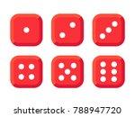 craps. red dice vector... | Shutterstock .eps vector #788947720
