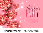 valentine's day party... | Shutterstock .eps vector #788949706