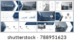 set  dark blue  black elements ... | Shutterstock .eps vector #788951623