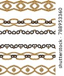 Small photo of golden chain backgound