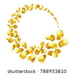 flying around gold coins vector ... | Shutterstock .eps vector #788953810
