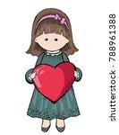 vector hand drawn cute cartoon... | Shutterstock .eps vector #788961388
