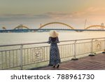 woman tourist is wearing non la ... | Shutterstock . vector #788961730
