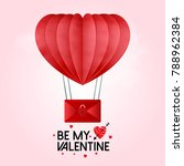 be my valentine's vector with... | Shutterstock .eps vector #788962384