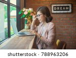 young asian business woman... | Shutterstock . vector #788963206