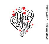 you and me vector | Shutterstock .eps vector #788963368