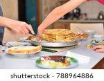baking concept. female hands... | Shutterstock . vector #788964886
