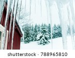 beautiful white winter season... | Shutterstock . vector #788965810