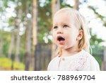 image of sweet baby girl... | Shutterstock . vector #788969704
