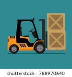 vector illustration of forklift ... | Shutterstock .eps vector #788970640