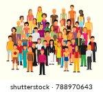 flat illustration of society... | Shutterstock .eps vector #788970643