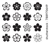 sakura icons. collection of 16... | Shutterstock .eps vector #788970649