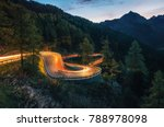 the winding mountain road with...   Shutterstock . vector #788978098