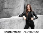 fashion portrait of young... | Shutterstock . vector #788980720