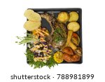 pork chop steak black pepper...   Shutterstock . vector #788981899