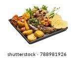 pork chop steak black pepper...   Shutterstock . vector #788981926