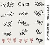hand drawn design elements... | Shutterstock .eps vector #788983156