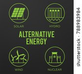 renewable energy vector... | Shutterstock .eps vector #788983984