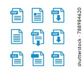 download icon. file download... | Shutterstock .eps vector #788984620