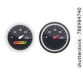 guage icon. credit score... | Shutterstock .eps vector #788984740