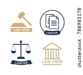 lawyer concept. lawyer icons in ... | Shutterstock .eps vector #788985178