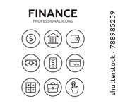 finance thin icons. finance... | Shutterstock .eps vector #788985259