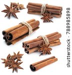 cinnamon stick group with star... | Shutterstock . vector #788985898