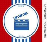 clapperboard symbol icon   Shutterstock .eps vector #788985964
