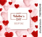 valentine s day background with ... | Shutterstock .eps vector #788986048