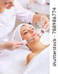 woman on facial skincare...   Shutterstock . vector #788986774