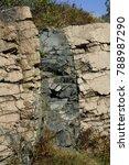Small photo of diabase dike in granite Cadillac Mt., Acadia National Park, Maine