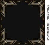 vintage retro style invitation  ... | Shutterstock .eps vector #788989828