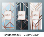 design templates for flyers ... | Shutterstock .eps vector #788989834