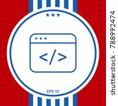 code editor icon | Shutterstock .eps vector #788992474