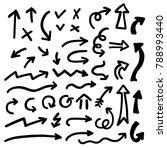 vector doodles set of hand... | Shutterstock .eps vector #788993440