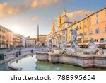 piazza navona in rome  italy at ...   Shutterstock . vector #788995654