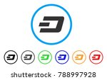 dash currency rounded icon.... | Shutterstock .eps vector #788997928