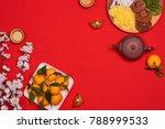 vietnamese food for vietnam tet ... | Shutterstock . vector #788999533