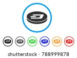 dash coin rounded icon. style... | Shutterstock .eps vector #788999878