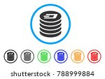 dash coin stack rounded icon.... | Shutterstock .eps vector #788999884